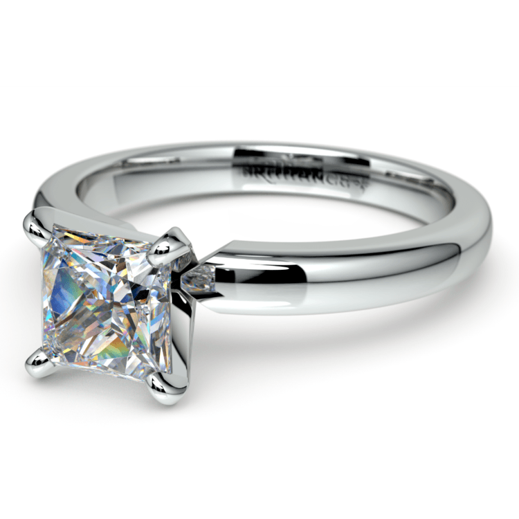Princess Diamond Preset Engagement Ring in White Gold (1/4 ctw) | 01