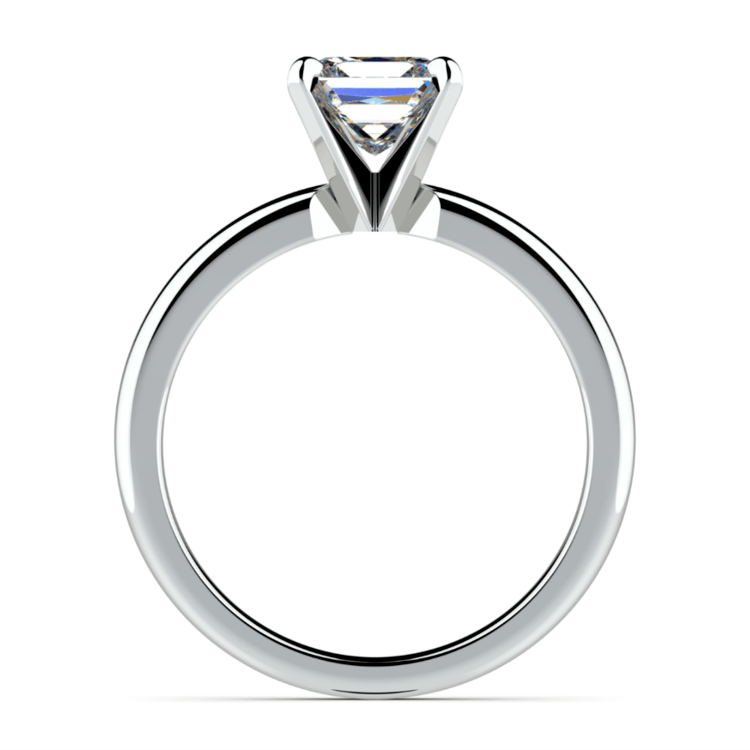 Princess Diamond Preset Engagement Ring in White Gold (1/4 ctw) | 03