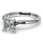 Princess Diamond Preset Engagement Ring in White Gold (1 ctw) | Thumbnail 01