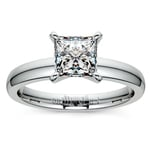 Princess Diamond Preset Engagement Ring in White Gold (1 ctw) | Thumbnail 02
