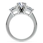 Princess Diamond Engagement Ring in Platinum (1 ctw) | Thumbnail 02