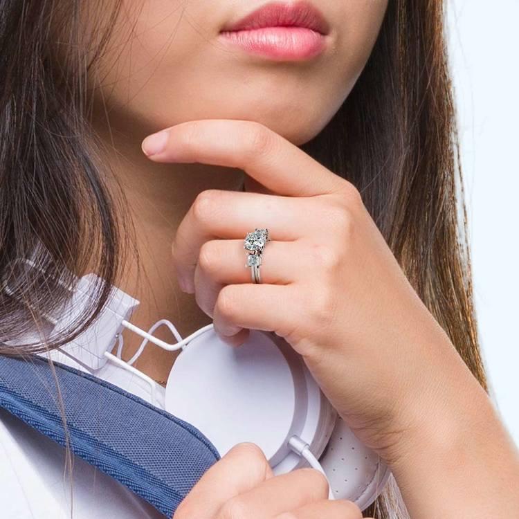 Princess Diamond Engagement Ring in Platinum (1 ctw) | 06