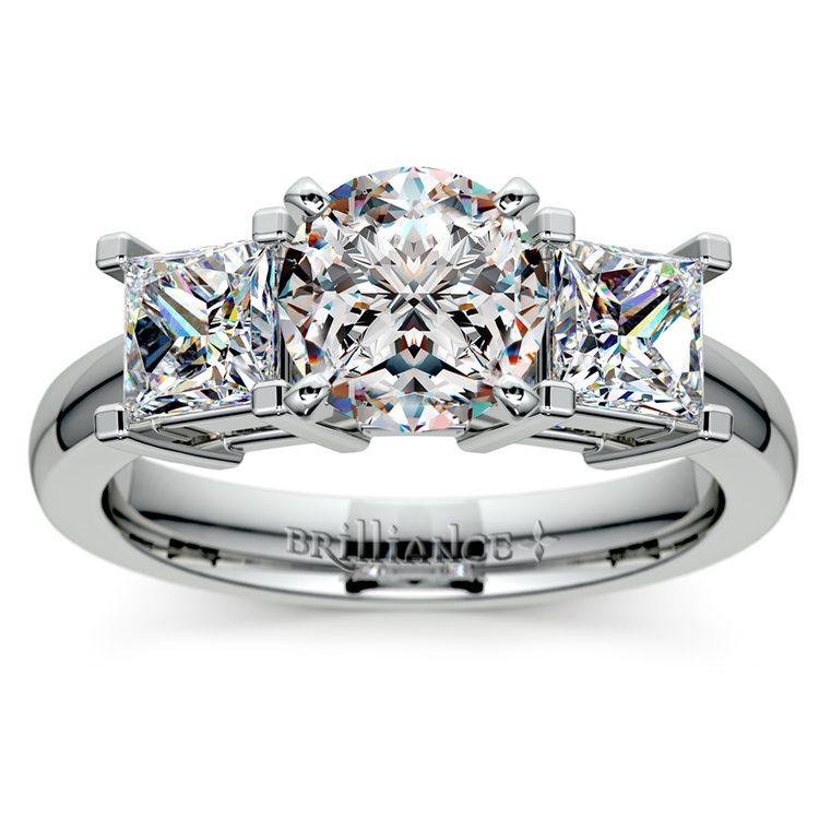 Princess Diamond Engagement Ring in Platinum (1 ctw) | 01
