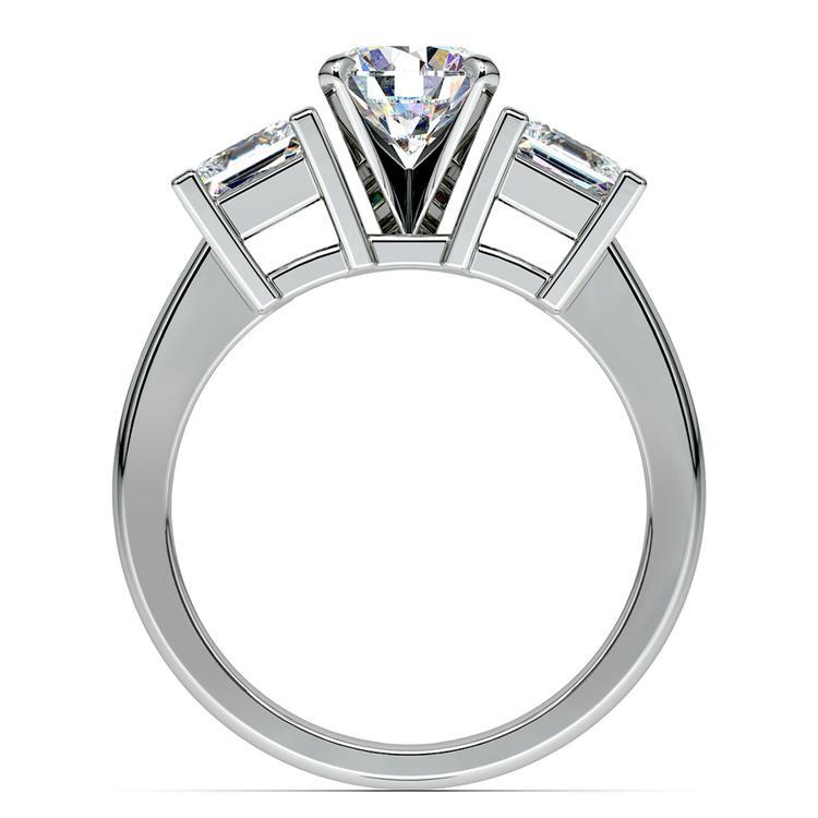 Princess Diamond Engagement Ring in Platinum (1 ctw) | 02