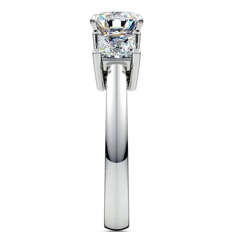 Princess Diamond Engagement Ring in Platinum (1 ctw) | 03
