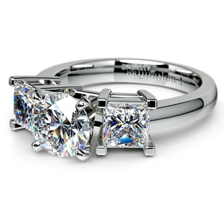 Princess Diamond Engagement Ring in Platinum (1 ctw) | 04