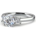 Princess Trellis Diamond Engagement Ring in Platinum (1/3 ctw) | Thumbnail 04