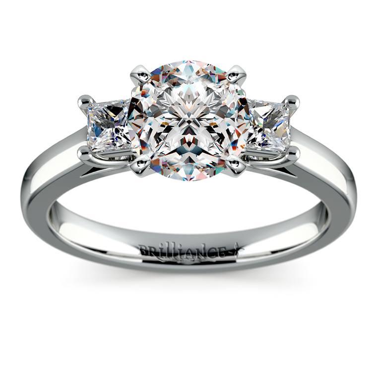 Princess Trellis Diamond Engagement Ring in Platinum (1/3 ctw) | 01