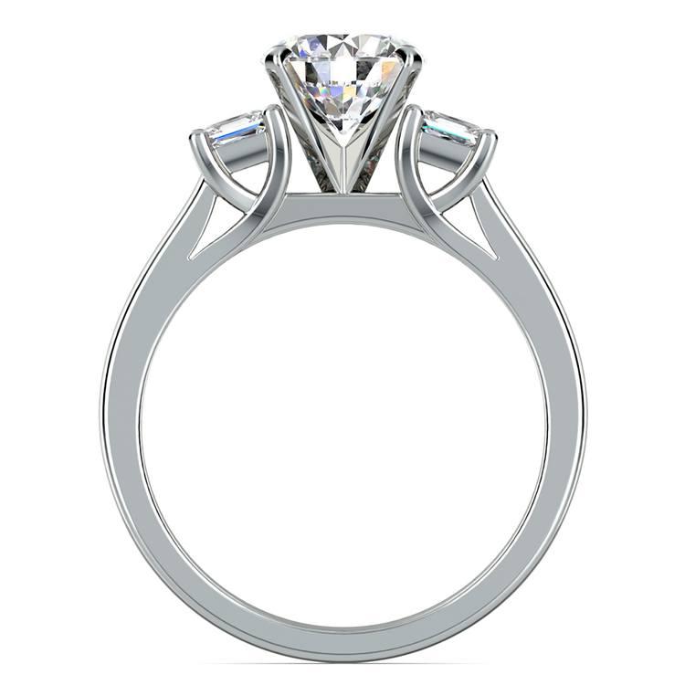 Princess Trellis Diamond Engagement Ring in Platinum (1/3 ctw) | 02