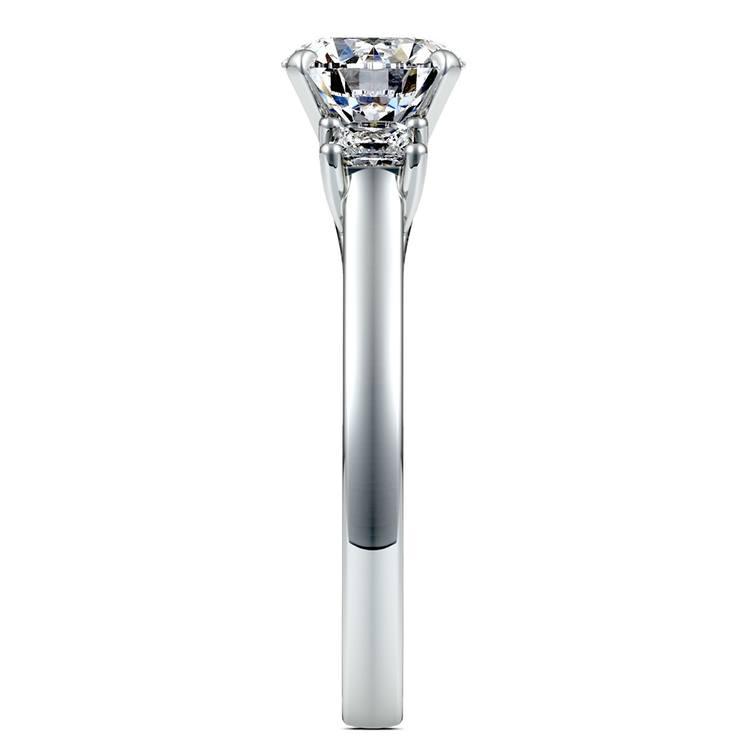 Princess Trellis Diamond Engagement Ring in Platinum (1/3 ctw) | 03
