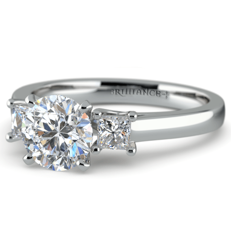 Princess Trellis Diamond Engagement Ring in Platinum (1/3 ctw) | 04