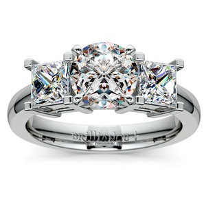 Princess Diamond Engagement Ring in White Gold (1 ctw)