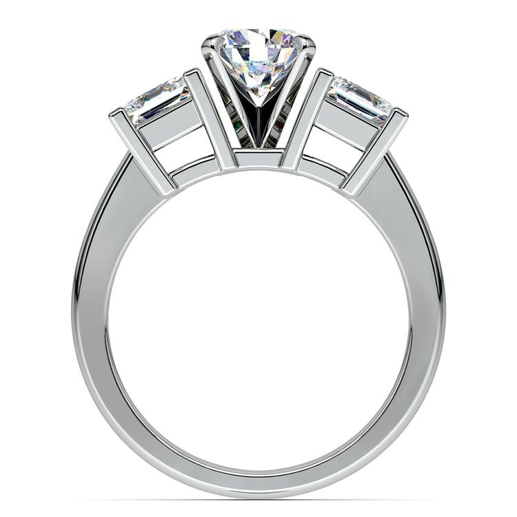 Princess Diamond Engagement Ring in White Gold (1 ctw) | 02