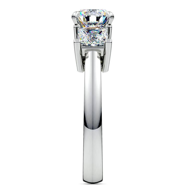 Princess Diamond Engagement Ring in White Gold (1 ctw) | 03