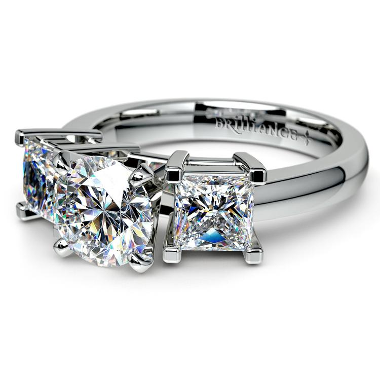 Princess Diamond Engagement Ring in White Gold (1 ctw) | 04
