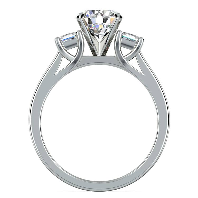 Princess Trellis Diamond Engagement Ring in White Gold (1/3 ctw) | 02