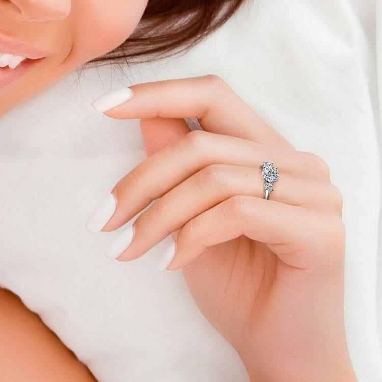 Princess Trellis Diamond Engagement Ring in White Gold (1/3 ctw) | 06