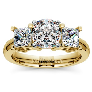 Princess Diamond Engagement Ring in Yellow Gold (1 ctw)