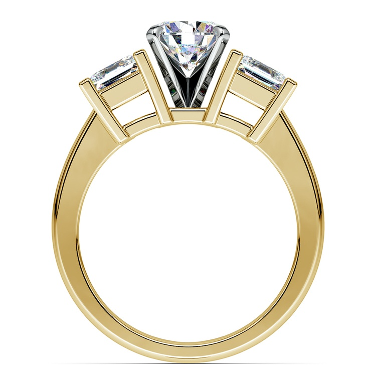 Princess Diamond Engagement Ring in Yellow Gold (1 ctw) | 02