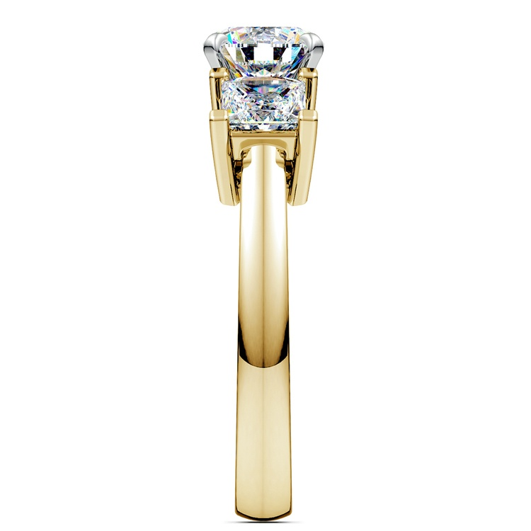 Princess Diamond Engagement Ring in Yellow Gold (1 ctw) | 03