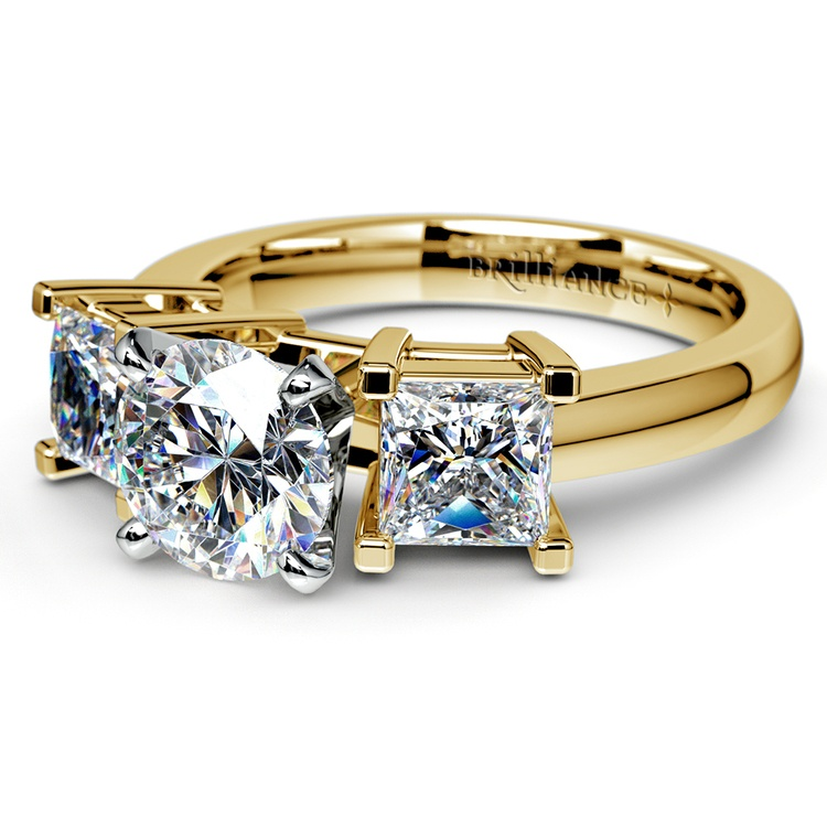 Princess Diamond Engagement Ring in Yellow Gold (1 ctw) | 04