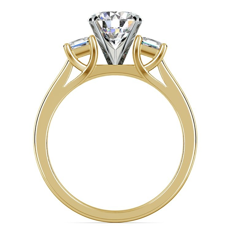 Princess Trellis Diamond Engagement Ring in Yellow Gold (1/3 ctw)  | 02