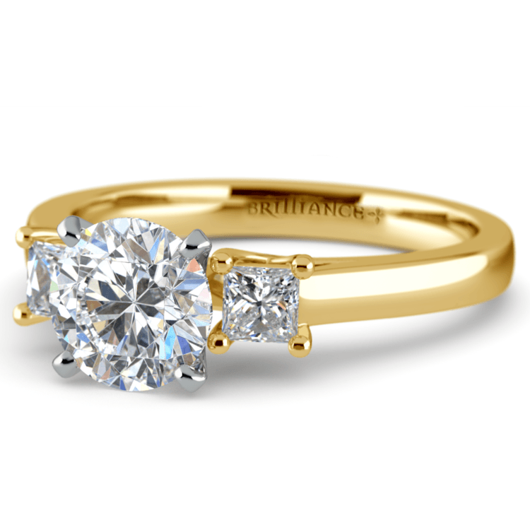 Princess Trellis Diamond Engagement Ring in Yellow Gold (1/3 ctw)  | 04