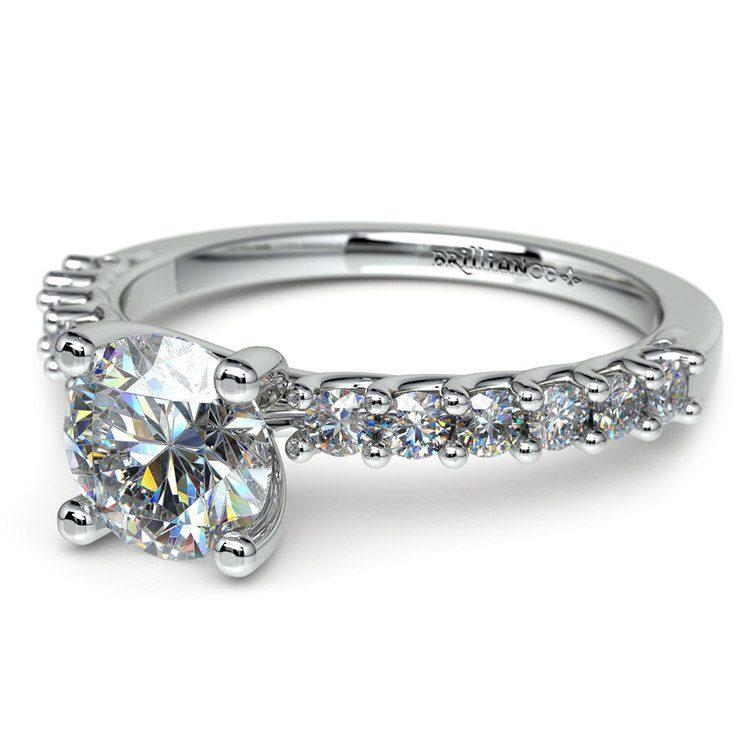 Reverse Trellis Diamond Engagement Ring in Platinum | 04