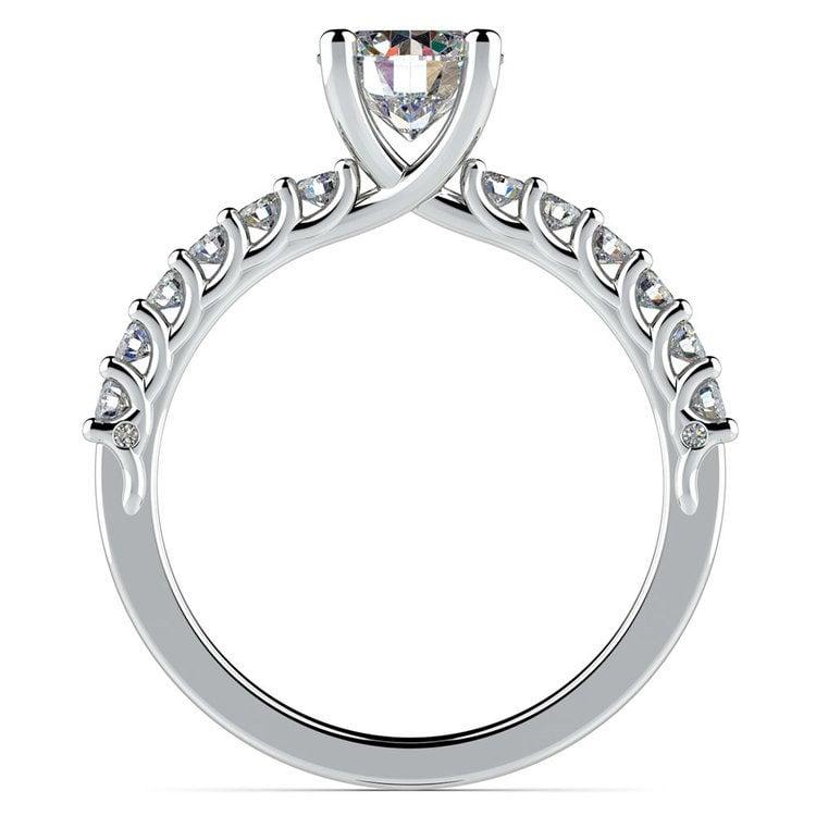 Reverse Trellis Diamond Engagement Ring in White Gold | 02