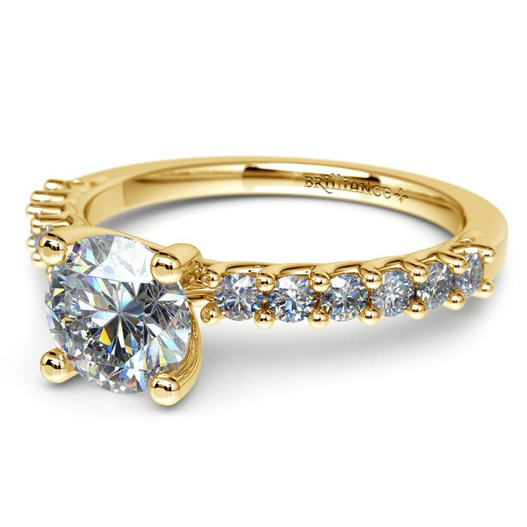 Reverse Trellis Diamond Engagement Ring in Yellow Gold | 04