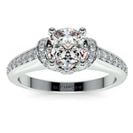 Ribbon Diamond Engagement Ring with Surprise Diamonds in Platinum | Thumbnail 01