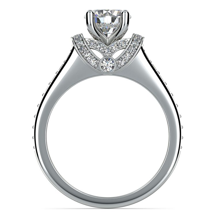 Ribbon Diamond Engagement Ring with Surprise Diamonds in White Gold | 02