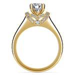 Ribbon Diamond Engagement Ring with Surprise Diamonds in Yellow Gold | Thumbnail 02