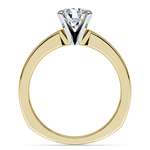Rocker (European) Milgrain Solitaire Engagement Ring in Yellow Gold | Thumbnail 02