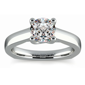 Rocker (European) Trellis Solitaire Engagement Ring in Palladium