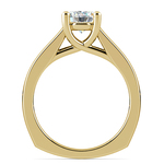 Rocker (European) Trellis Solitaire Engagement Ring in Yellow Gold | Thumbnail 02