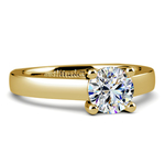 Rocker (European) Trellis Solitaire Engagement Ring in Yellow Gold | Thumbnail 04