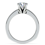 Rocker (European) Milgrain Solitaire Engagement Ring in Palladium | Thumbnail 02