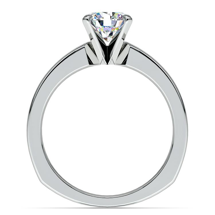 Rocker (European) Milgrain Solitaire Engagement Ring in Palladium | 02