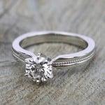 Rocker (European) Milgrain Solitaire Engagement Ring in Platinum | Thumbnail 05
