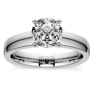 Rocker (European) Solitaire Engagement Ring in Palladium