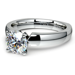 Rocker (European) Solitaire Engagement Ring in Platinum | Thumbnail 04
