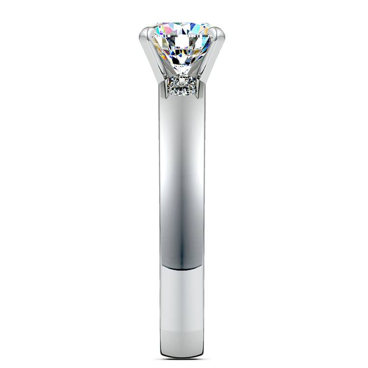 Rocker (European) Solitaire Engagement Ring in Platinum | 03