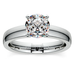 Rocker (European) Solitaire Engagement Ring in White Gold | Thumbnail 01