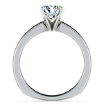Rocker (European) Solitaire Engagement Ring in White Gold | Thumbnail 02