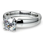 Rocker (European) Solitaire Engagement Ring in White Gold | Thumbnail 04