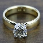 Rocker (European) Solitaire Engagement Ring in Yellow Gold | Thumbnail 05