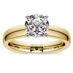 Rocker (European) Solitaire Engagement Ring in Yellow Gold | Thumbnail 01