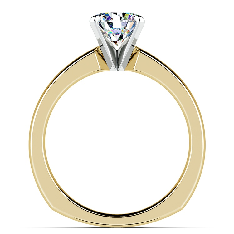 Rocker (European) Solitaire Engagement Ring in Yellow Gold | 02