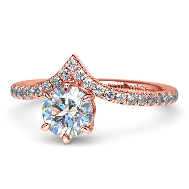 Rose Gold Chevron Engagement Ring | 04